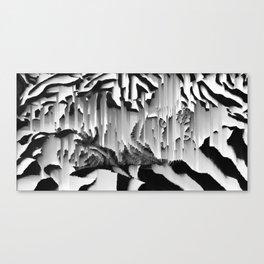 Honey I Pixel Sorted The Cat Canvas Print