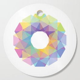 Fig. 036 Colorful Circle Cutting Board