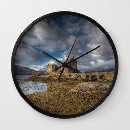 Eilean Donan Castle in Highlands of Scotland Wall Clock