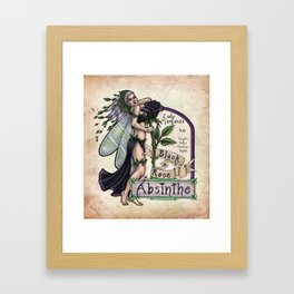 Black Rose Absinthe by Bobbie Berendson W Framed Art Print