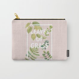Leaves of Grass, Walt Whitman, book cover illustration, american poetry collection, flowers art Carry-All Pouch
