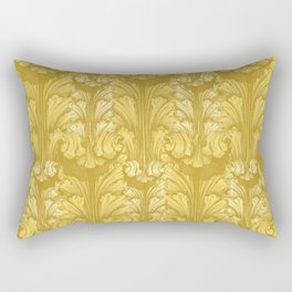 Yellow Gold Classic Acanthus Leaves Pattern Rectangular Pillow