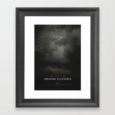 Unknown Pleasures Framed Art Print