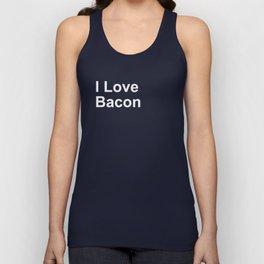 I Love Bacon Unisex Tank Top