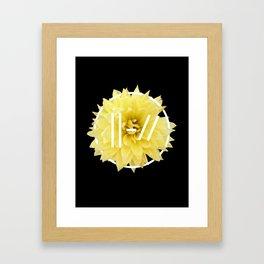 Trench Yellow Flower Framed Art Print