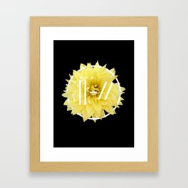 Trench Yellow Flower Framed Art Print