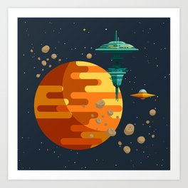 The space base Art Print