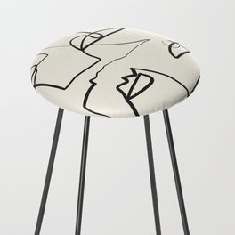 Abstract line art 12 Counter Stool
