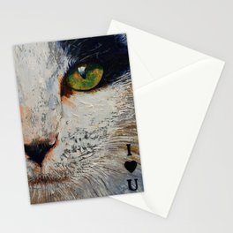 I Love You Cat Stationery Cards