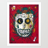 tequila Art Prints featuring Tequila by Jorge Garza