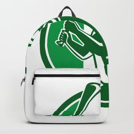 Hurling Ireland Flag Icon Backpack