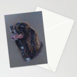 English Cocker Spaniel art print Stationery Cards