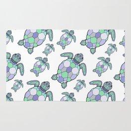 Sea turtles. Rug