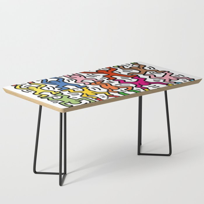 Homage to Keith Haring Acrobats II Coffee Table