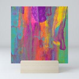 Abstract Rainbow Sunset Painting Mini Art Print