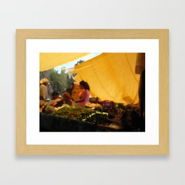 sunset at the market Framed Art Print