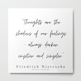 32    | 200319 |  Friedrich Nietzsche Quotes Metal Print