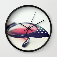 50s Wall Clocks featuring 50s Style by Sybille Sterk