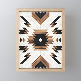 Urban Tribal Pattern No.5 - Aztec - Concrete and Wood Framed Mini Art Print