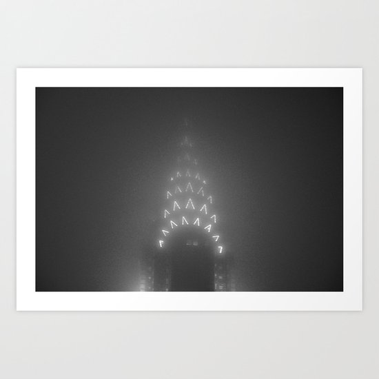 Chrysler Building Fog Noir Art Print