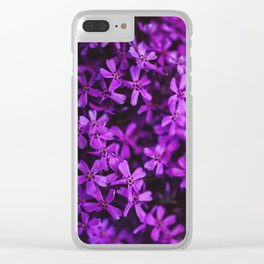 Flowers in Purple, Ultra Violet Clear iPhone Case