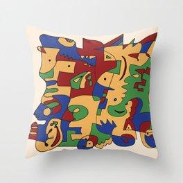 Saturday Jam - Jazz album Throw Pillow