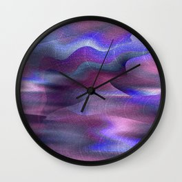 Waves of Abstraction (violet-orchid) Wall Clock