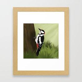 jz.birds Woodpecker Bird Design Framed Art Print