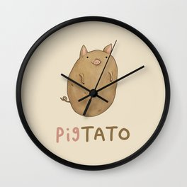 Pigtato Wall Clock