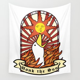 honk the sun Wall Tapestry