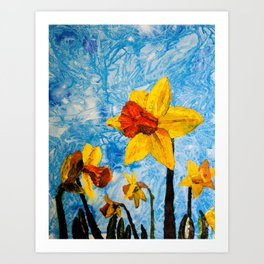 Daffy Daffs of Spring Art Print
