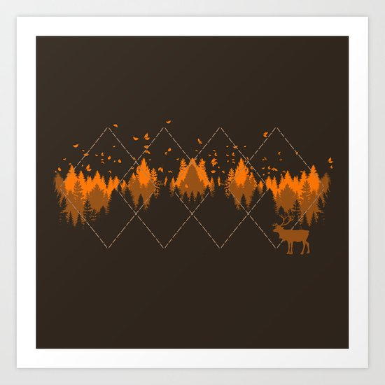 Tradicional Nature Pattern Art Print