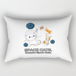 Space Cats - Spaceship Galaxy Satellite Kitten Rectangular Pillow