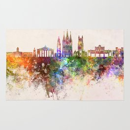 Cork skyline in watercolor background Rug