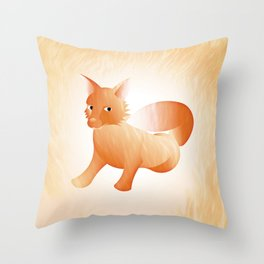 Red Little Fox (Full) Throw Pillow