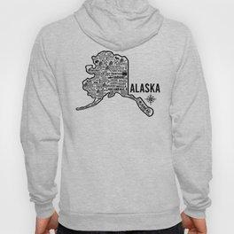 Alaska Map Hoody