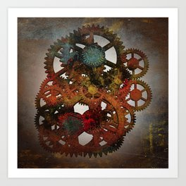 Industrial Rust Art Print