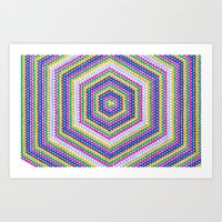 bender Art Prints featuring Mind Bender by Abstract Graph Designs