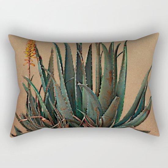 Blooming succulent. Rectangular Pillow