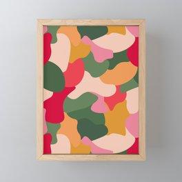Colourful Blobs - Rainbow, Crowded Framed Mini Art Print