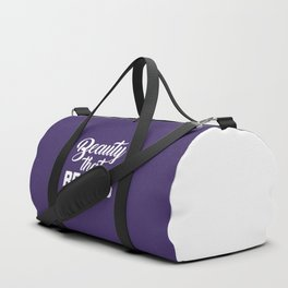 Beauty That Beasts Gym Quote Duffle Bag