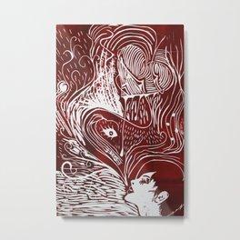 Corazón Metal Print