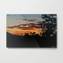 Brushstrokes in the sky  Metal Print