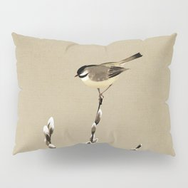Chickadee And Pussy Willow Pillow Sham