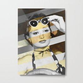 Manet's Olympia & Audrey Hepburn Metal Print