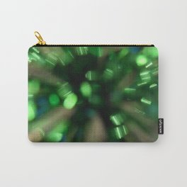 Green Sparkle Burst Carry-All Pouch