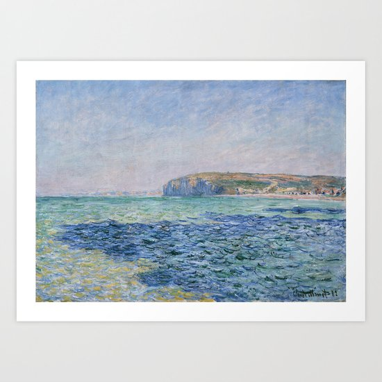 Shadows on the Sea at Pourville by Claude Monet by palazzoartgallery