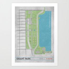 Parks of Chicago: Grant Park Art Print