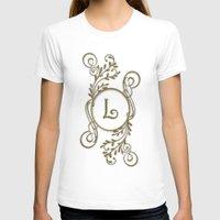 monogram T-shirts featuring Monogram L by Britta Glodde