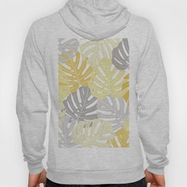 Yellow monstera deliciosa leaves Hoody